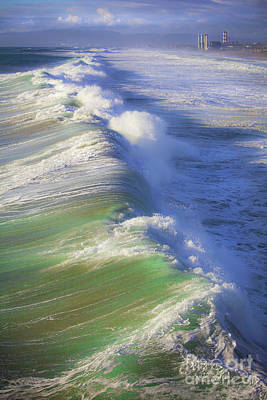 Photograph - Breaking Waves  by Jerry Cowart