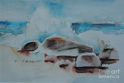 Painting - Breaking Waves by P Anthony Visco