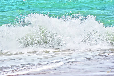 Photograph - Breaking Waves Vilano Beach by Gina O'Brien