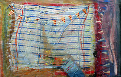 Bunting Mixed Media - Breaking Wind by Tom Smith
