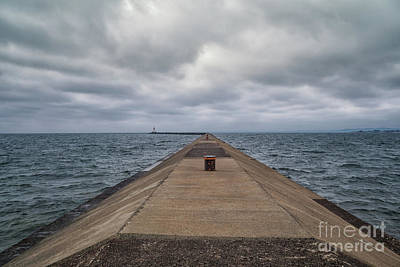 Photograph - Breakwall Clouds by Rachel Cohen