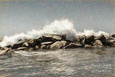 Breakwater 2 Art Print