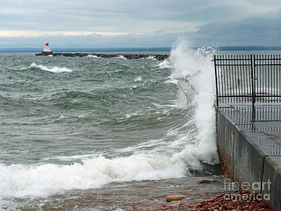 Photograph - Breakwater by Ann Horn