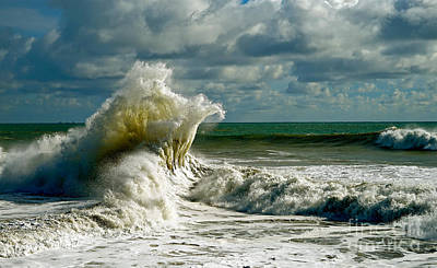 Photograph - Breakwater Backwash by Michael Cinnamond