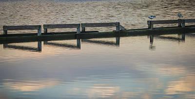 Photograph - Breakwater Broken by Lauren Brice