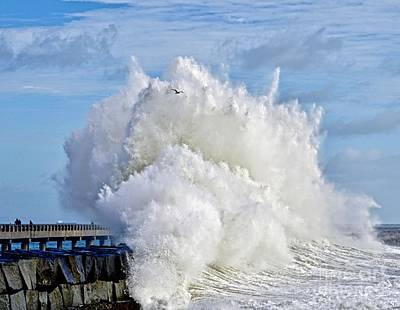 Photograph - Breakwater Explosion by Michael Cinnamond