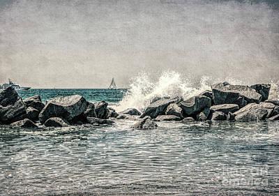 Breakwater Art Print
