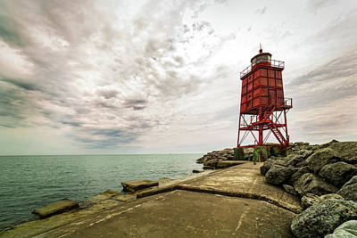 Photograph - Breakwater Light by CJ Schmit