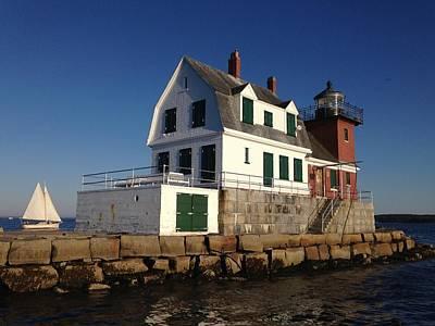 Photograph - Breakwater Lighthouse by Jewels Blake Hamrick