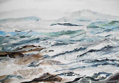 Linda King Painting - Breakwater by Linda King