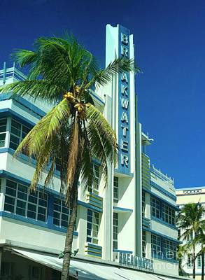 Breakwater Miami Beach Art Print