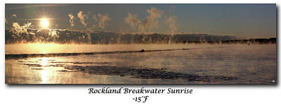 Photograph - Breakwater Sunrise by John Meader