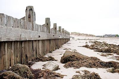 Sand Fences Photograph - Breakwater by Tom Gowanlock