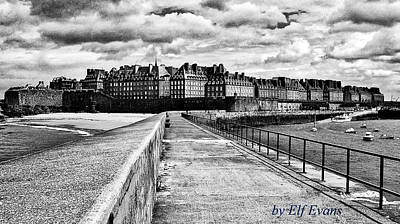Breakwater Walkway To Intra Muros Art Print
