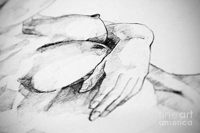 Drawing - Breast And Hands Art Drawing by Dimitar Hristov