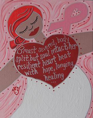Painting - Breast Cancer Goddess by Angela Yarber