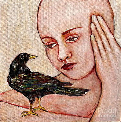 Painting - Breast Cancer Series 'early Bird' by Patience