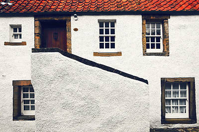Red Roof Photograph - Breath Of History. Culross. Scotland by Jenny Rainbow