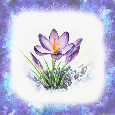 Painting - Breath Of Spring Crocus Flowers by Irina Sztukowski