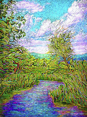 Digital Art - Breath Of The Indigo River by Joel Bruce Wallach