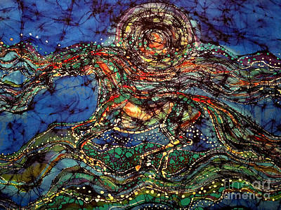 Tapestry - Textile - Breath Over Mountain by Carol Law Conklin