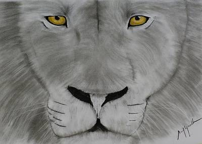Charcoal Drawing - Breathe In Courage And Exhale Fear by Sunil Gowthem