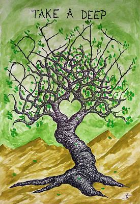 Breathe Love Tree Original