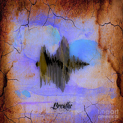 Mixed Media - Breathe Spoken Soundwave by Marvin Blaine