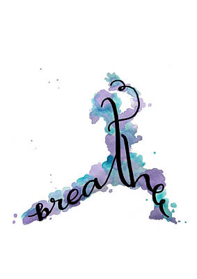 Mindfulness Painting - Breathe Yoga Art by Michelle Eshleman