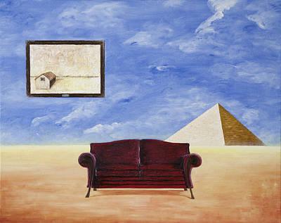 Relaxng In The Desert Art Print by Mladjan Stefanovic