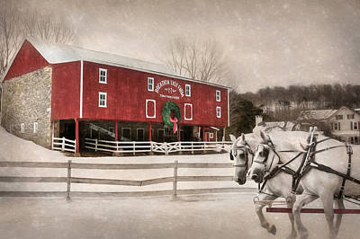 Breathin Easy Farm Art Print by Lori Deiter