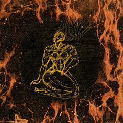 Breathing In Fire Art Print by Inga Vereshchagina