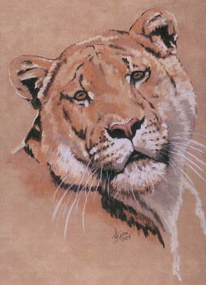 Mixed Media - Breathtaking Liger by Barbara Keith