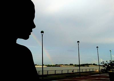 Photograph - Breathtaking Rainbow Along The Mississipppi River In  New Orleans by Michael Hoard