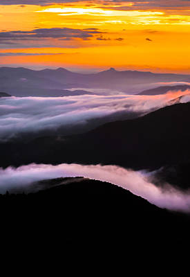 Photograph - Breatthtaking Blue Ridge Sunrise by Serge Skiba
