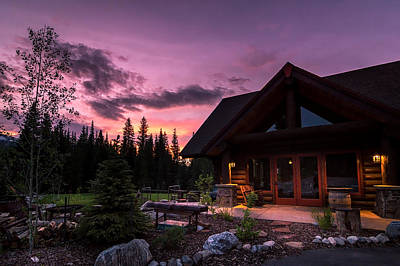Photograph - Breck Nordic Lodge Sunset by Michael J Bauer
