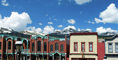 Photograph - Breckenridge Colorado Downtown Mountain Skyline Panorama  by Gregory Ballos