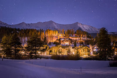 Breckenridge Nordic Night  Art Print by Michael J Bauer