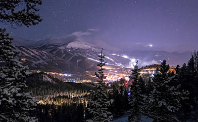 American Photograph - Breckenridge Winter Night by Michael J Bauer