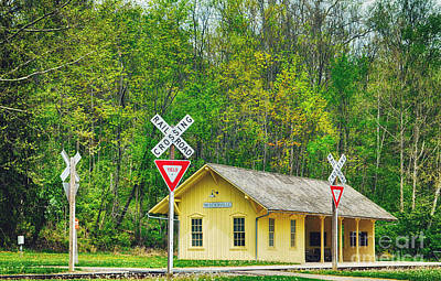 Photograph - Brecksville Train Depot by Rachel Barrett