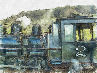 Photograph - Brecon Mountain Railway Train No.2 by Claire Bull