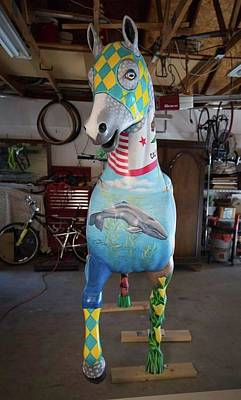 Painting - Breeders Cup Fiberglass Horse Front by Tish Wynne