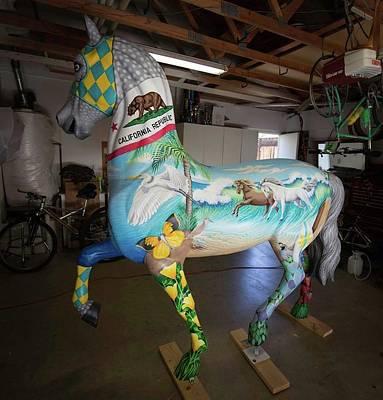 Breeders Cup Fiberglass Horse Left Art Print