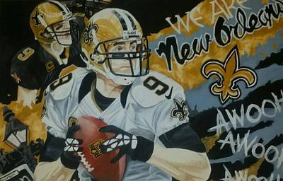 Drew Brees Painting - Brees by Jason Turner