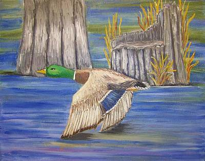 Art Print featuring the painting Breezing Across The Wetlands by Belinda Lawson