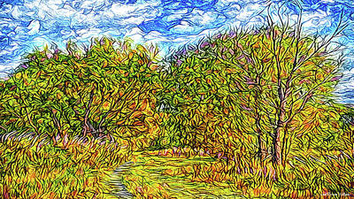 Digital Art - Breezy Autumn Pathway by Joel Bruce Wallach