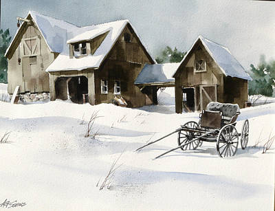 Breezy Barns 'n Buggy Art Print by Art Scholz