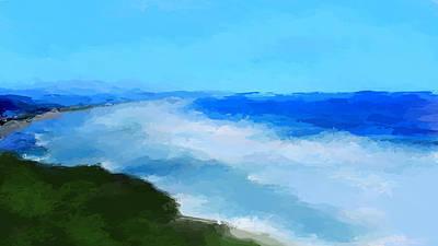 Mixed Media - Breezy Coastline by Anthony Fishburne