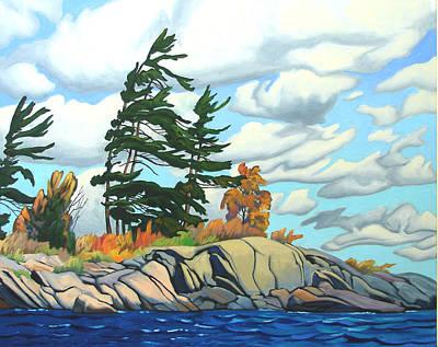 Breezy Day Georgian Bay Art Print by Paul Gauthier