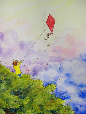 Breezy Day Happy Day Art Print by Jaymi Krystowiak